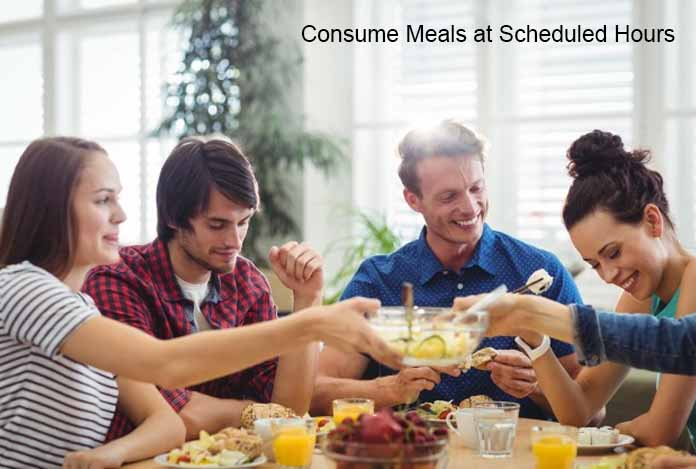Consume Meals at Scheduled Hours Food Craving and Lose Weight