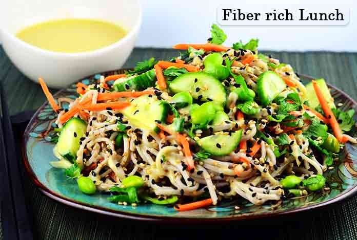 Fiber rich Lunch Detox Diet to lose weight
