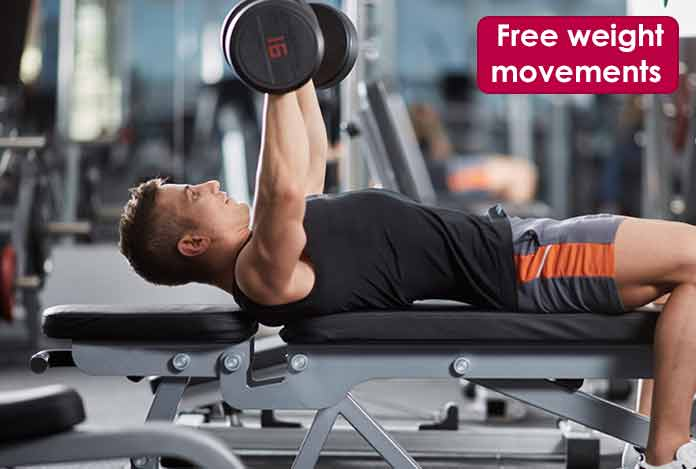 Free weight movementstes tosterone