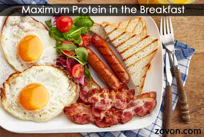 source of Maximum-Protein-in-the-Breakfast