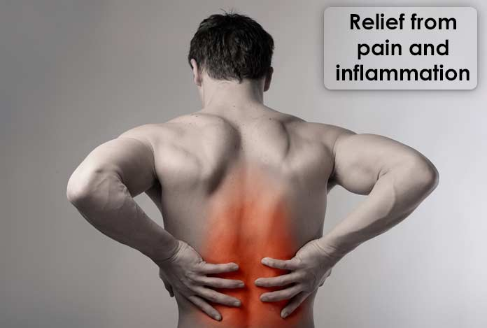 Relief from pain and inflammation CBD oil
