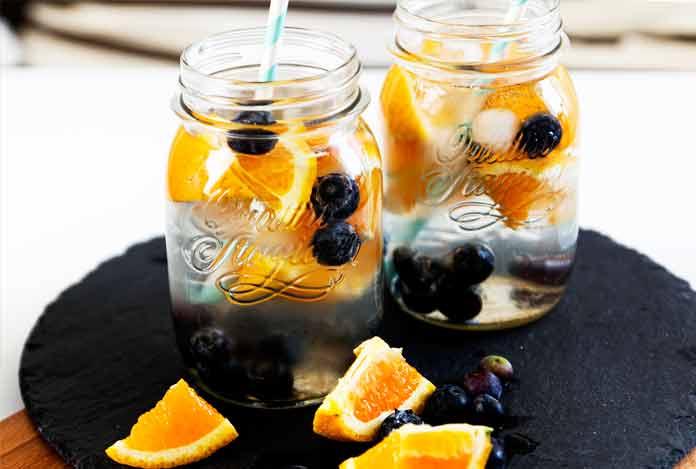 Blueberry orange detox water