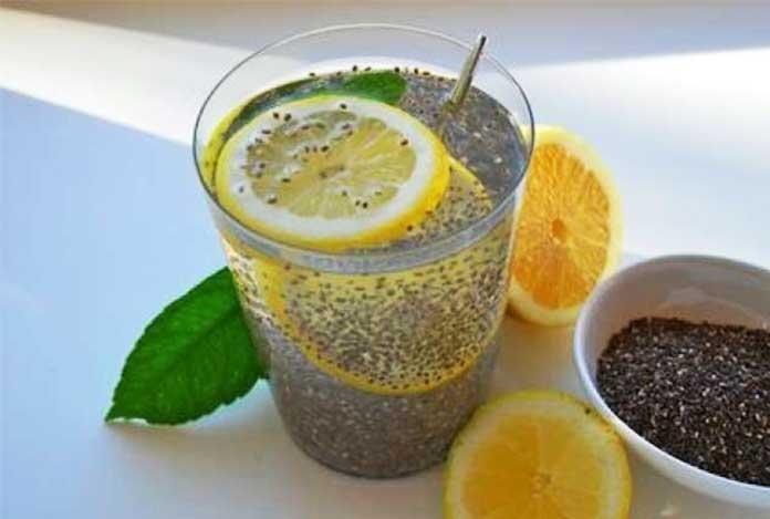 lemon chia water detox drink