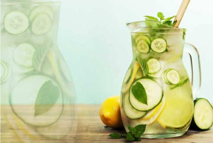 cucumber lemon and mint detox water