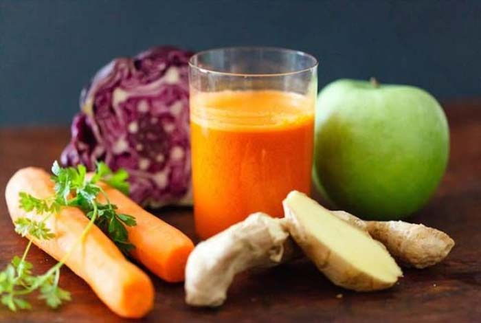 cabbage carrot and pear juice