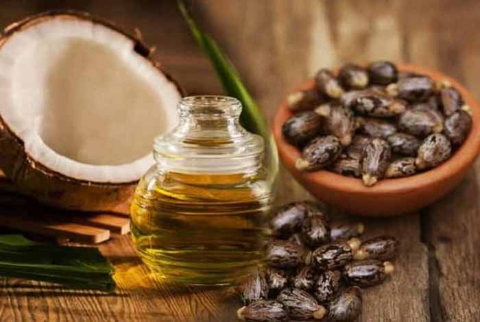 castor oil and coconut oil mixture