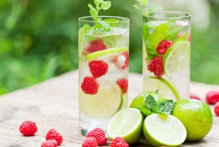 lime and raspberry juice
