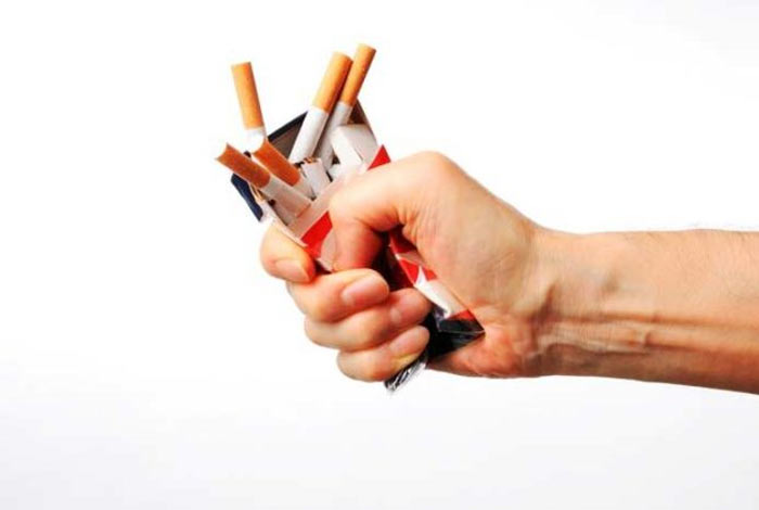 quit smoking and reduce alcohol consumption