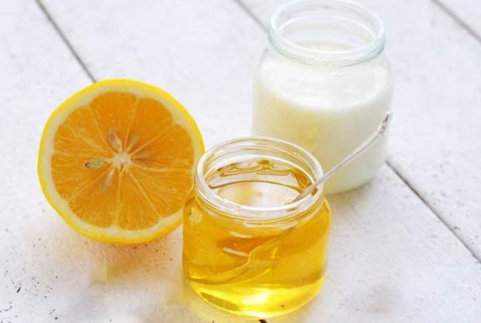 milk honey and lemon juice mask