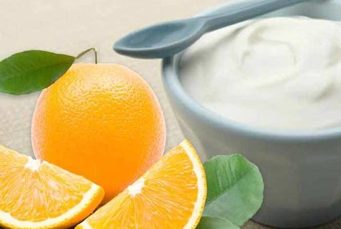 yogurt and dried orange mask