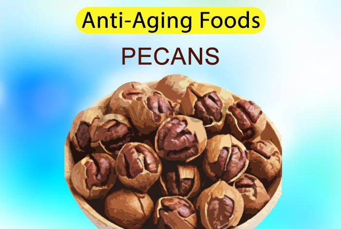 pecans to delay aging