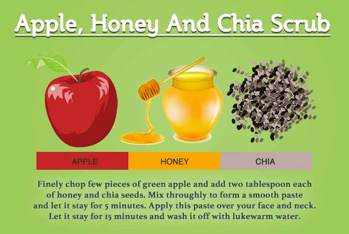 apple, honey and chia seeds for anti aging