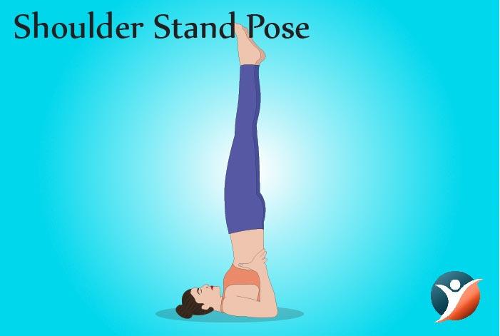 shoulder stand pose for managing diabetes