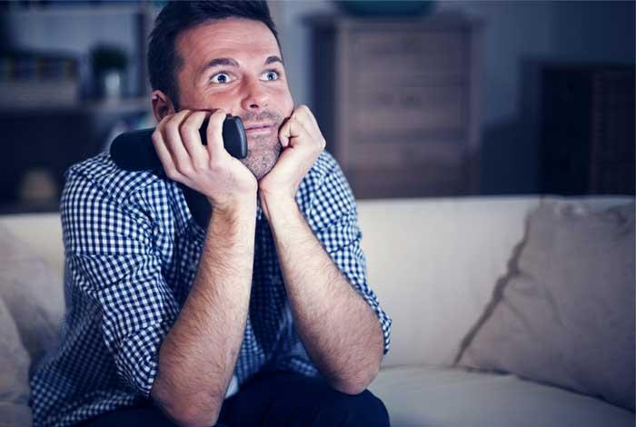 binge watching netflix or tv