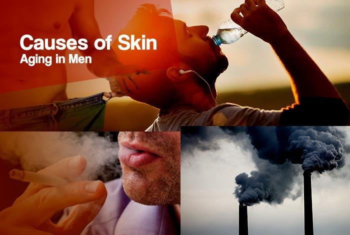causes of skin aging in men
