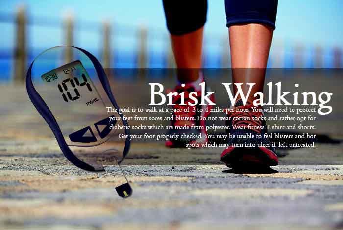brisk walking to control diabetes