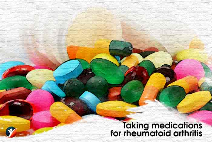 Taking medications for rheumatoid arthritis